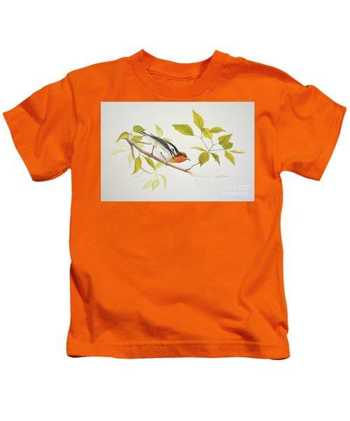 Blackburnian Warbler Kids T-Shirt