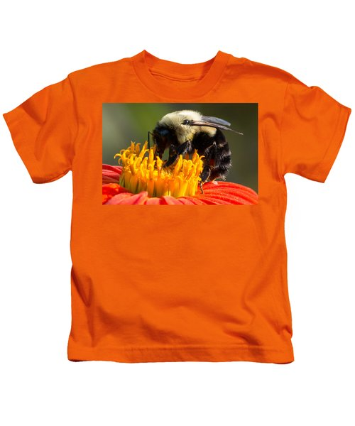 Kids T-Shirt featuring the photograph Bumble Bee by Willard Killough III