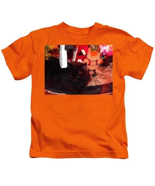 Christmas Kitty Kids T-Shirt