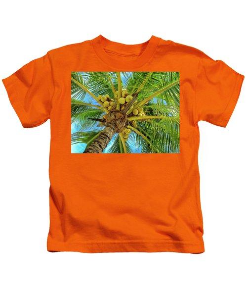 Coconuts In Tree Kids T-Shirt