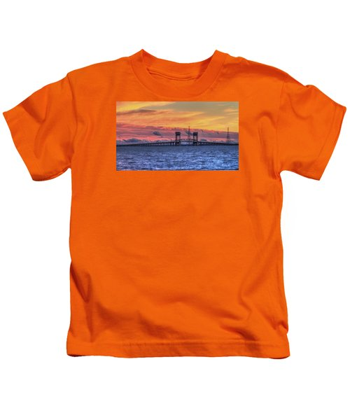 James River Bridge Kids T-Shirt