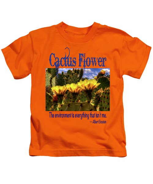 Prickly Pear Cactus Flowers Kids T-Shirt