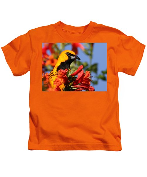Spot Breasted Oriole Kids T-Shirt