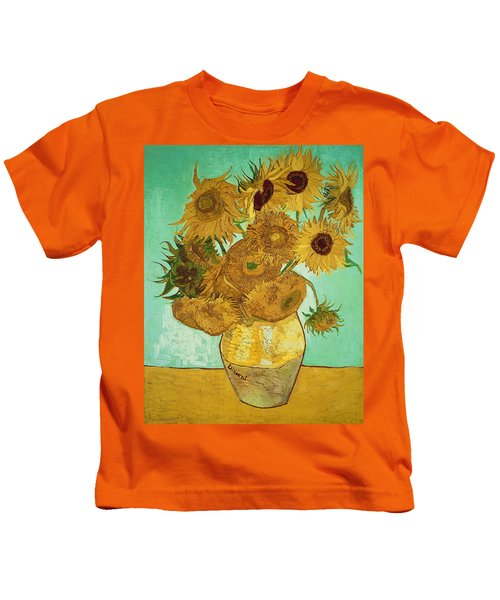 Sunflowers By Van Gogh Kids T-Shirt