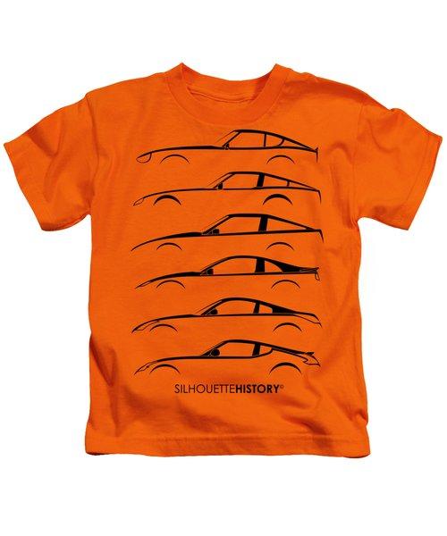 Zee Car Silhouettehistory Kids T-Shirt