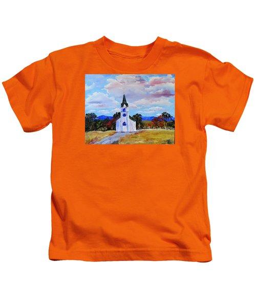#17 St. Johns Historic Church On Hwy 69 Kids T-Shirt