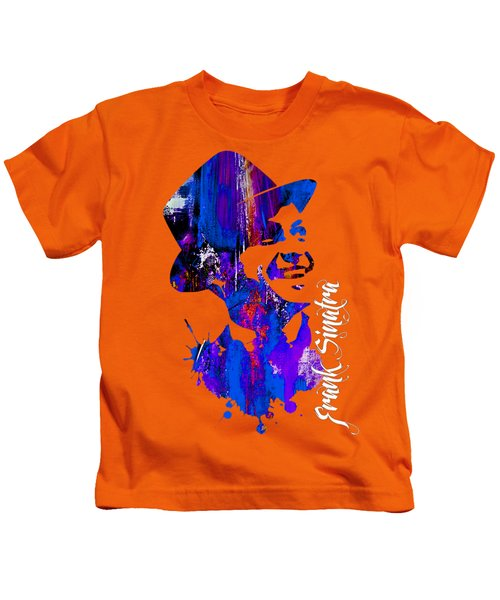 Frank Sinatra Collection Kids T-Shirt by Marvin Blaine
