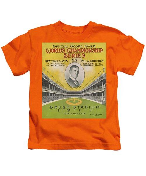 1911 World Series Score Card Kids T-Shirt