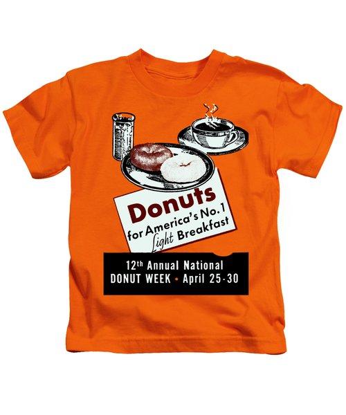 1940 Donut Poster Kids T-Shirt