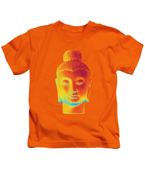 colorful Buddha - Gandhara Kids T-Shirt by Terrell Kaucher