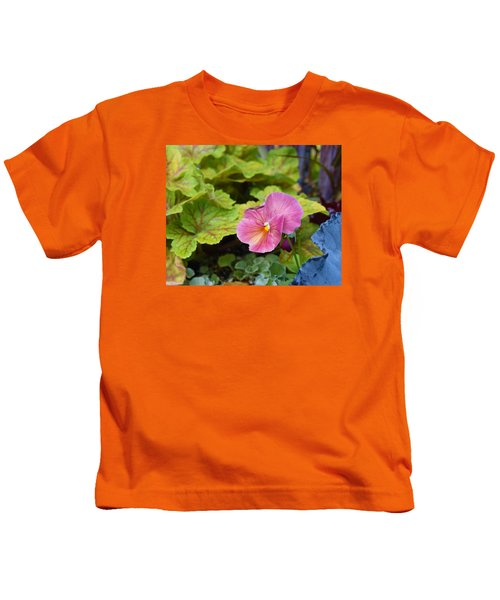 2015 After The Frost At The Garden Pansies 3 Kids T-Shirt