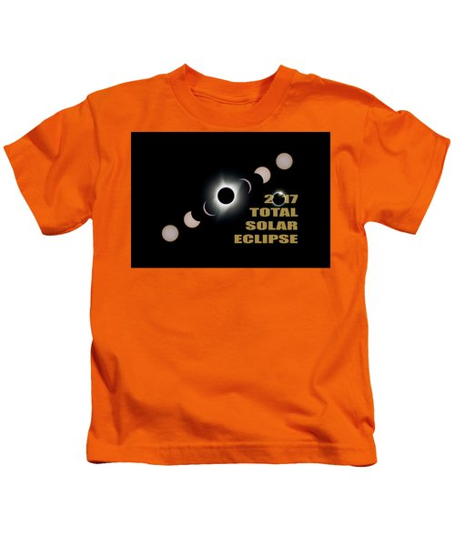 2017 Total Solar Eclipse Phases Kids T-Shirt