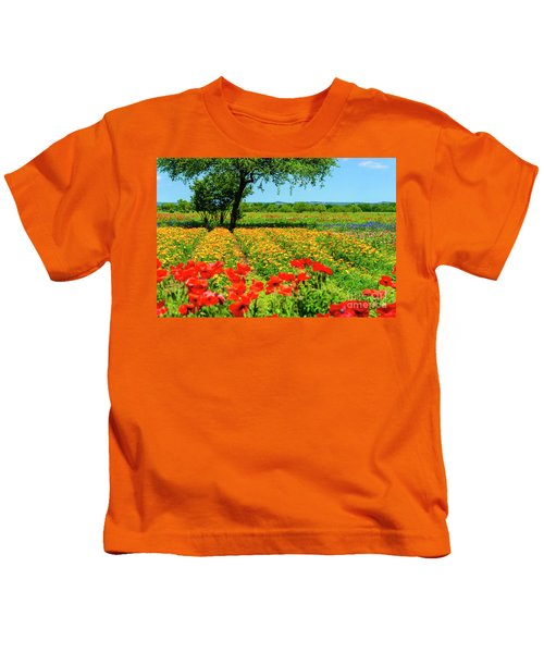 Hill Country In Bloom Kids T-Shirt