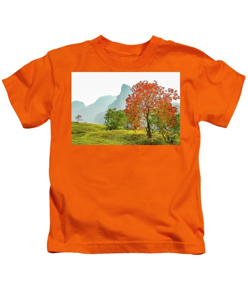 The Colorful Autumn Scenery Kids T-Shirt