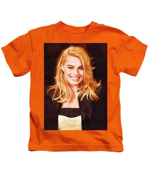 Margot Robbie Painting Kids T-Shirt