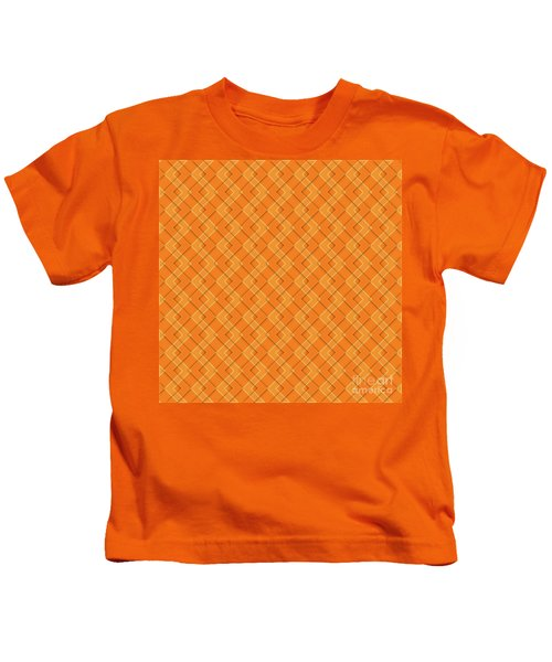 Abstract Orange, White And Red Pattern For Home Decoration Kids T-Shirt