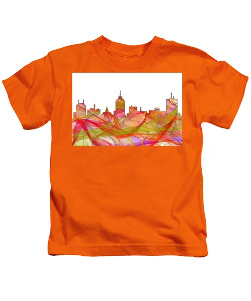 Fresno California Skyline Kids T-Shirt