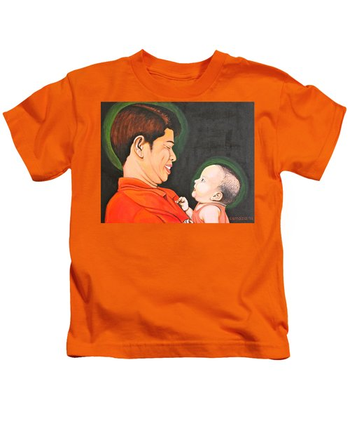 A Moment With Dad Kids T-Shirt
