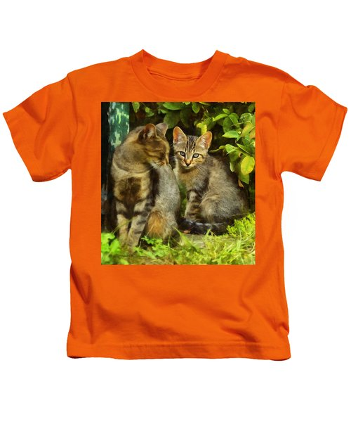 A Pair Of Feral Cats Kids T-Shirt