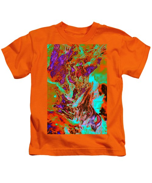 A Splash Of Color In The Weeds Kids T-Shirt