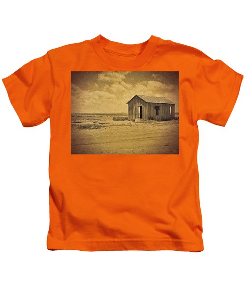 Abandoned Dust Bowl Home Kids T-Shirt