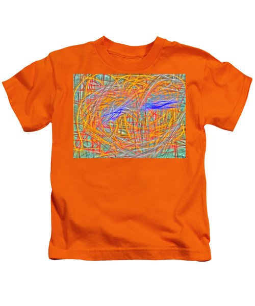 Kids T-Shirt featuring the painting Abstract 401 by Marian Palucci-Lonzetta