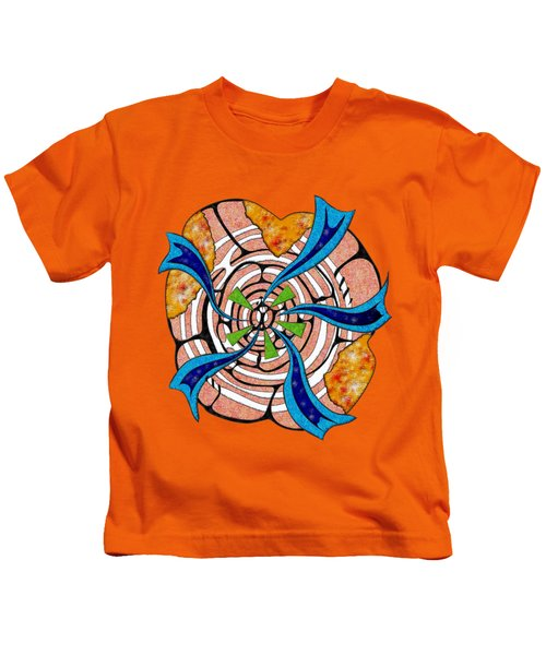Abstract Digital Art - Ciretta V3 Kids T-Shirt by Cersatti