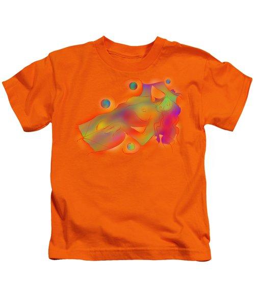 Abstract Digital Art - Limettina V1 Kids T-Shirt