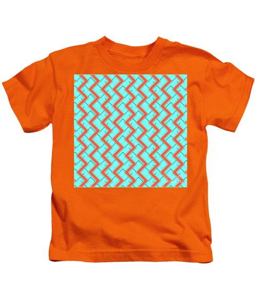 Abstract Orange, Yellow And Cyan Pattern For Home Decoration Kids T-Shirt