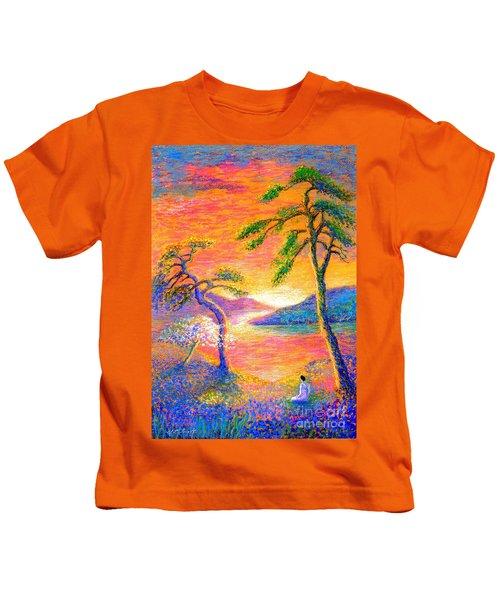 Buddha Meditation, All Things Bright And Beautiful Kids T-Shirt