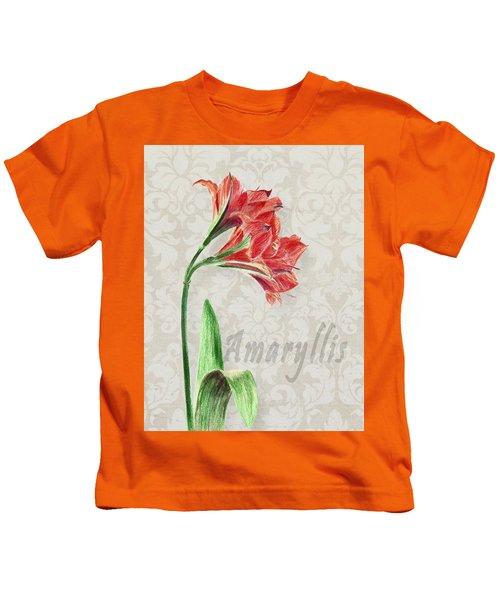 Amaryllis On The Ornament Kids T-Shirt