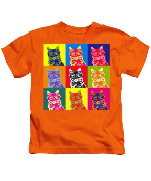 Andy Warhol Cat Kids T-Shirt