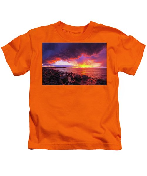 Antelope Island Sunset Kids T-Shirt