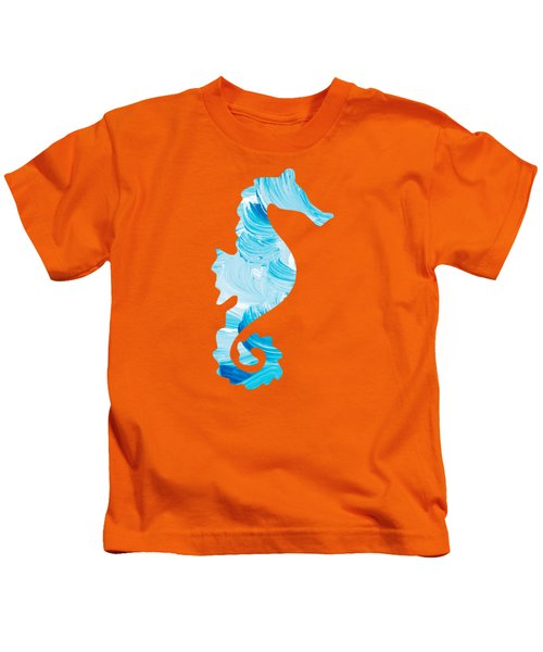 Aqua Abstract Painting Kids T-Shirt