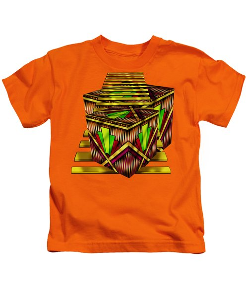 Art Deco Cubes 2 - Transparent Kids T-Shirt