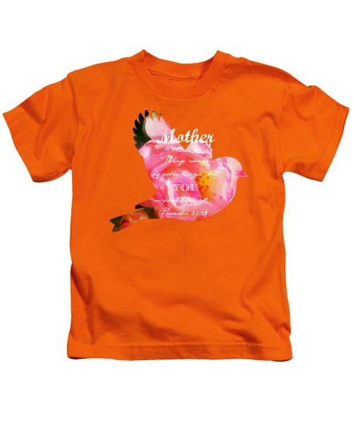 Roses - Verse Kids T-Shirt by Anita Faye