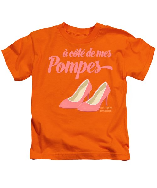 Pink High Heels French Saying Kids T-Shirt