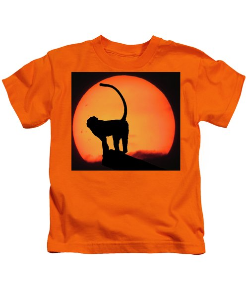 As The Day Ends Kids T-Shirt by Martin Newman