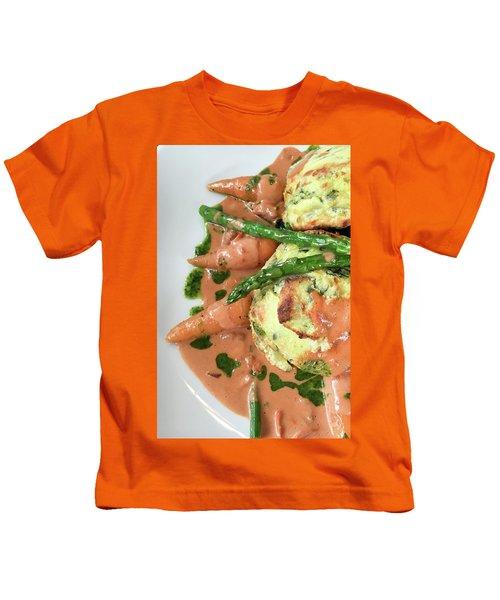 Asparagus Dish Kids T-Shirt by Tom Gowanlock