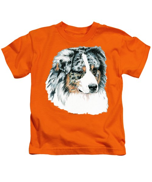 Australian Shepherd, Blue Merle Kids T-Shirt