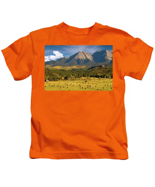 Autumn Hay In The Rockies Kids T-Shirt
