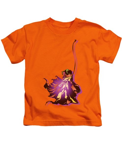 Autumn Sycamore Leaf Kids T-Shirt