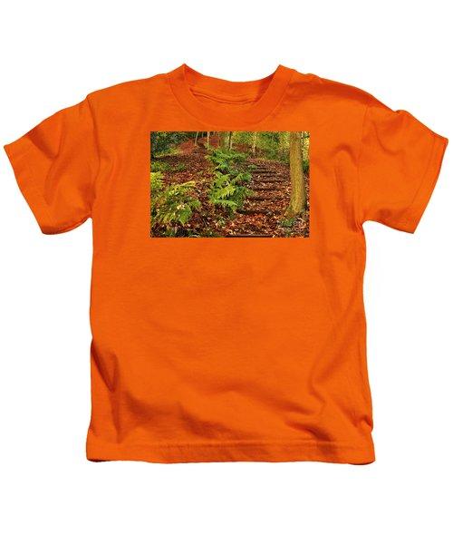 Autumn Woodland Path Kids T-Shirt