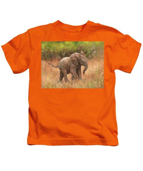 Baby African Elelphant Kids T-Shirt