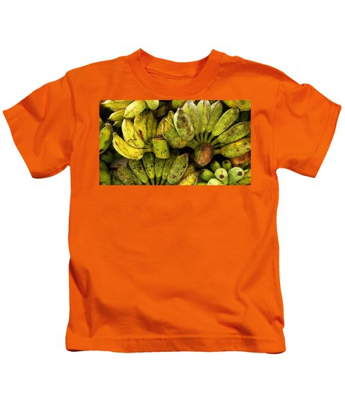 Bananas At Market Kids T-Shirt