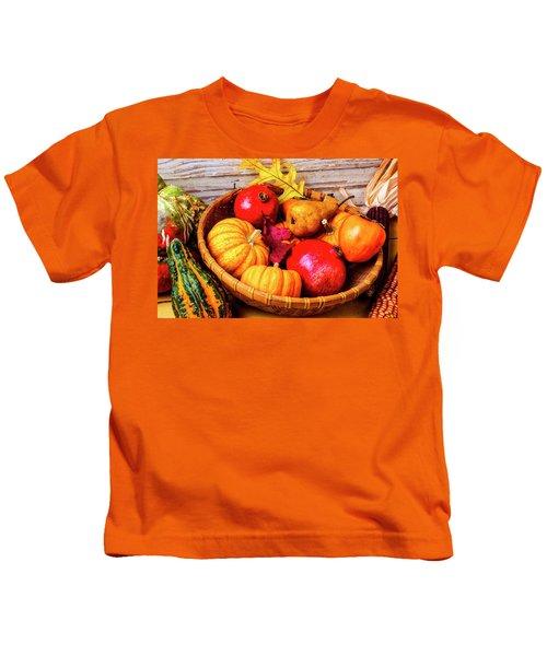 Basket Full Of Autumn Kids T-Shirt