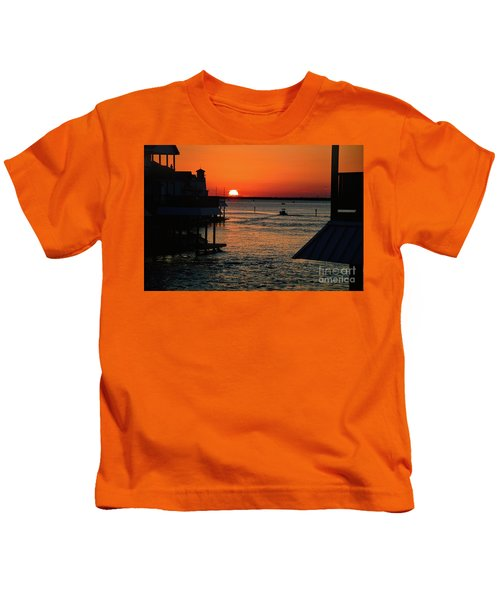 Bayou Vista Sunset Kids T-Shirt