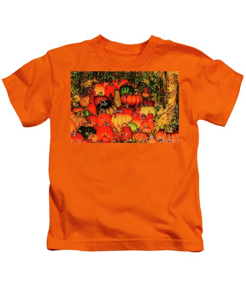 Beautiful Glass Pumpkins Kids T-Shirt