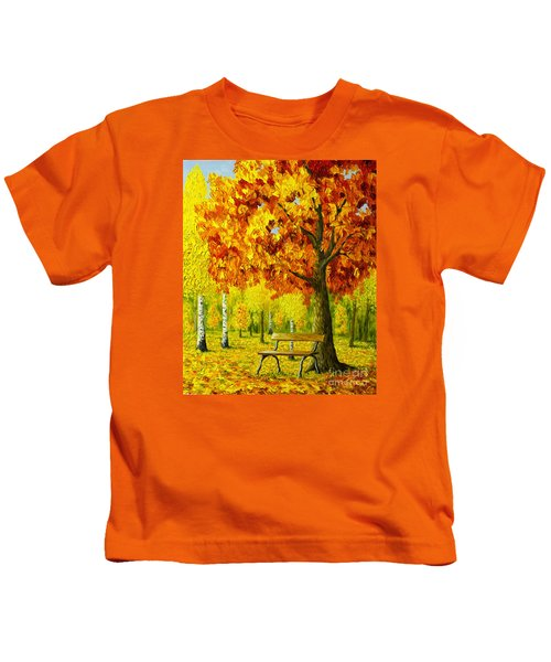 Bench Under The Maple Tree Kids T-Shirt