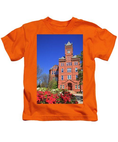 Biddle Hall In The Spring Kids T-Shirt